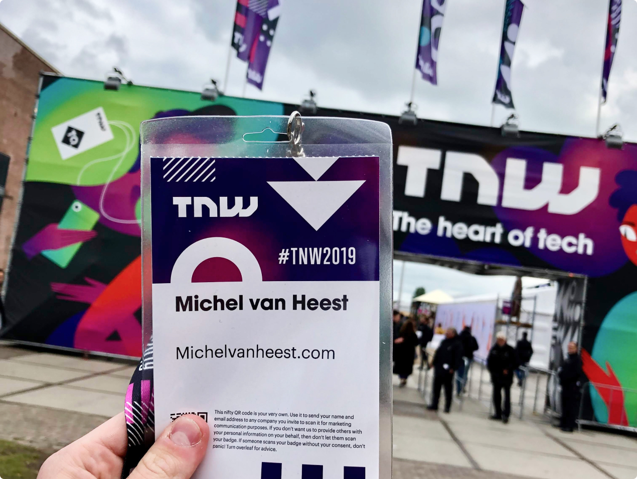 Michel at TheNextWeb2019 as a part of the T500